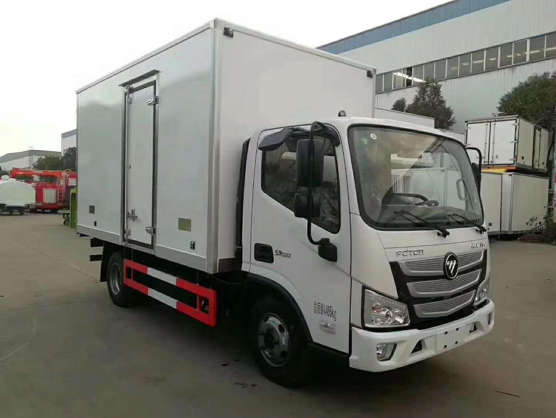 国六蓝牌福田奥铃速运4米货箱冷藏车