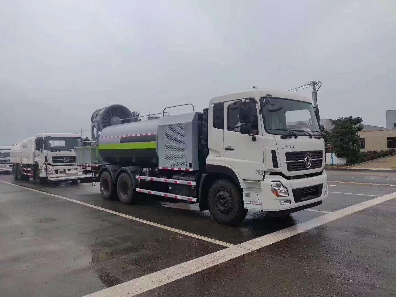 东风天龙16吨80米抑尘车发往天津