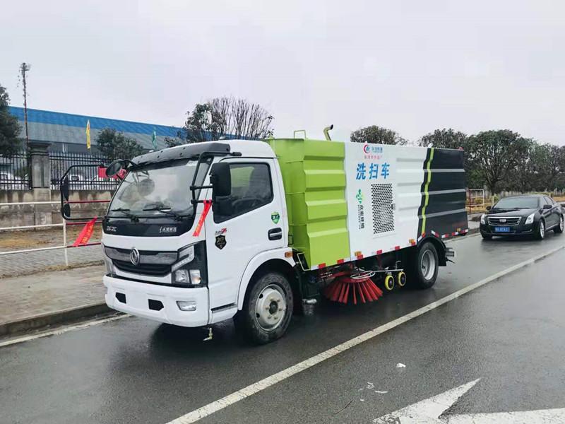 国六多利卡洗扫车,道路清扫车价格视频