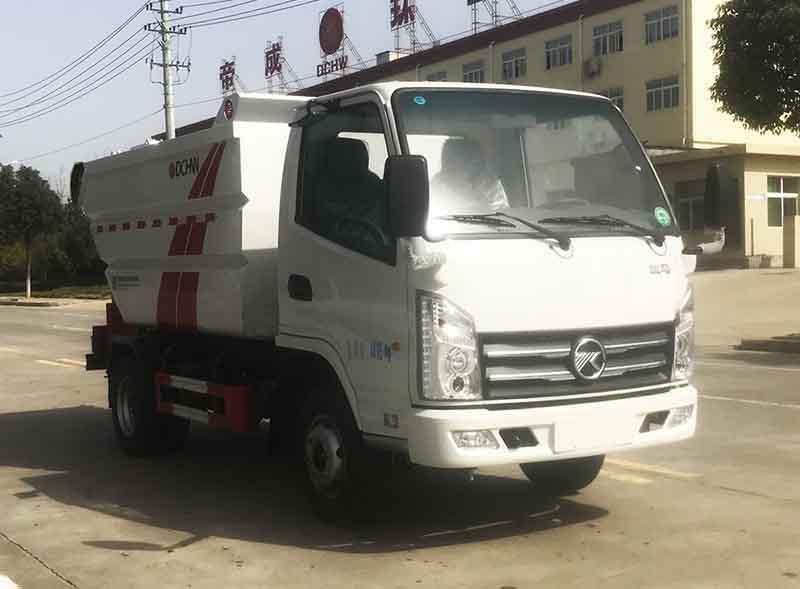 国六凯马5方(无泄漏)自装卸式垃圾车