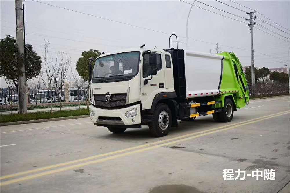 福田瑞沃14立方压缩垃圾车图片