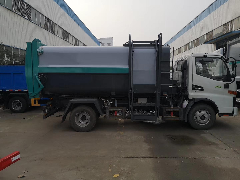 國六江淮高端駿鈴V3側裝壓縮垃圾車5噸圖片
