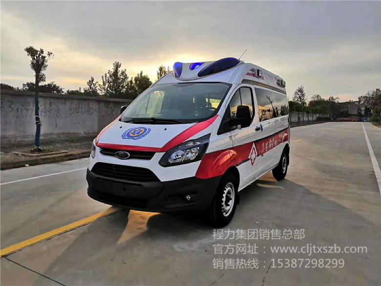 国六福特V362中轴中顶监护型救护车