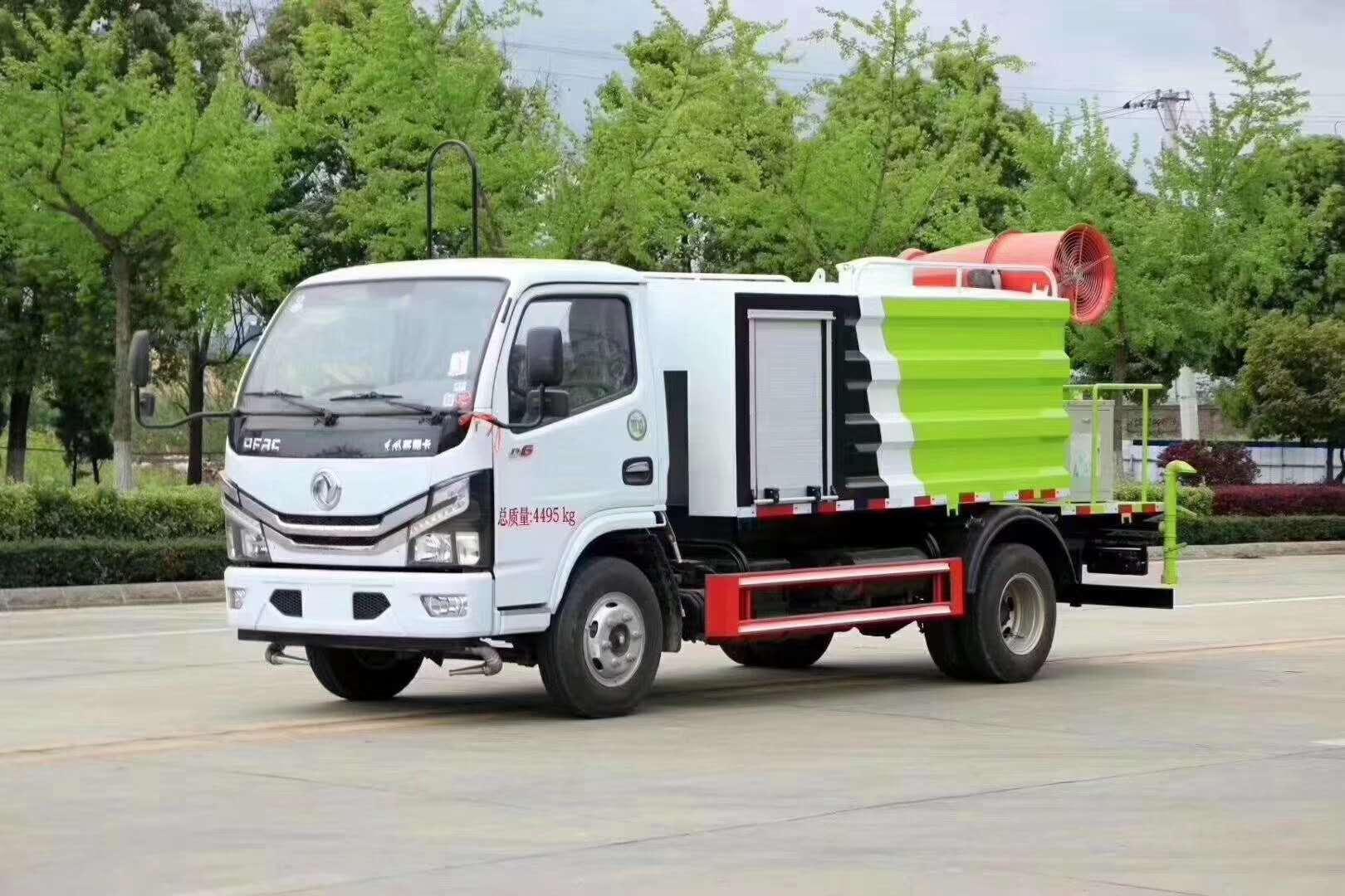 国六蓝牌东风D6多利卡5吨绿化喷洒车30米抑尘车