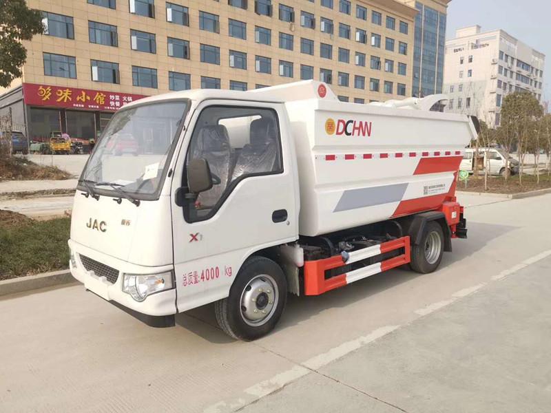 國六江淮汽油機勾臂垃圾車