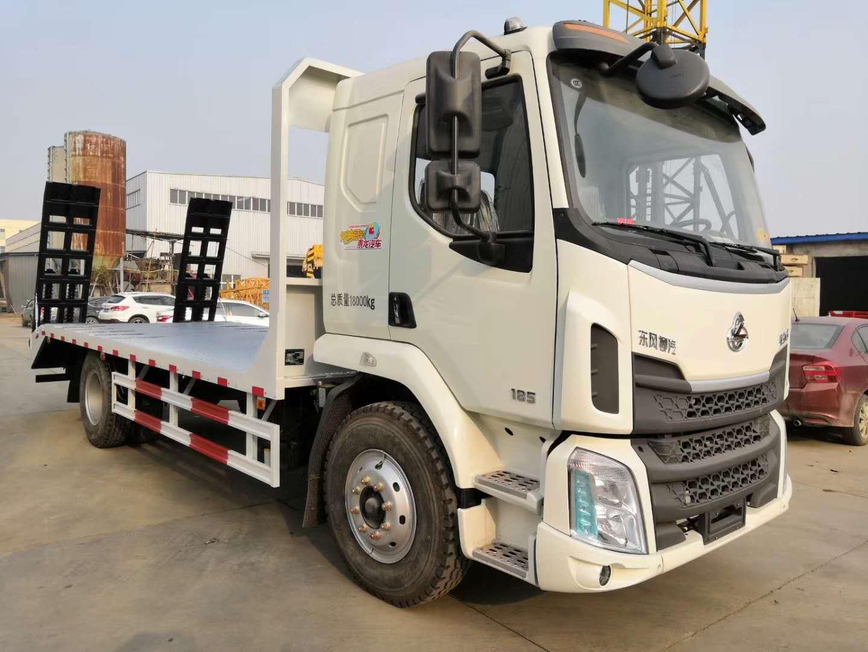 广西东风柳汽185马力经济型平板拖车多少钱一台?