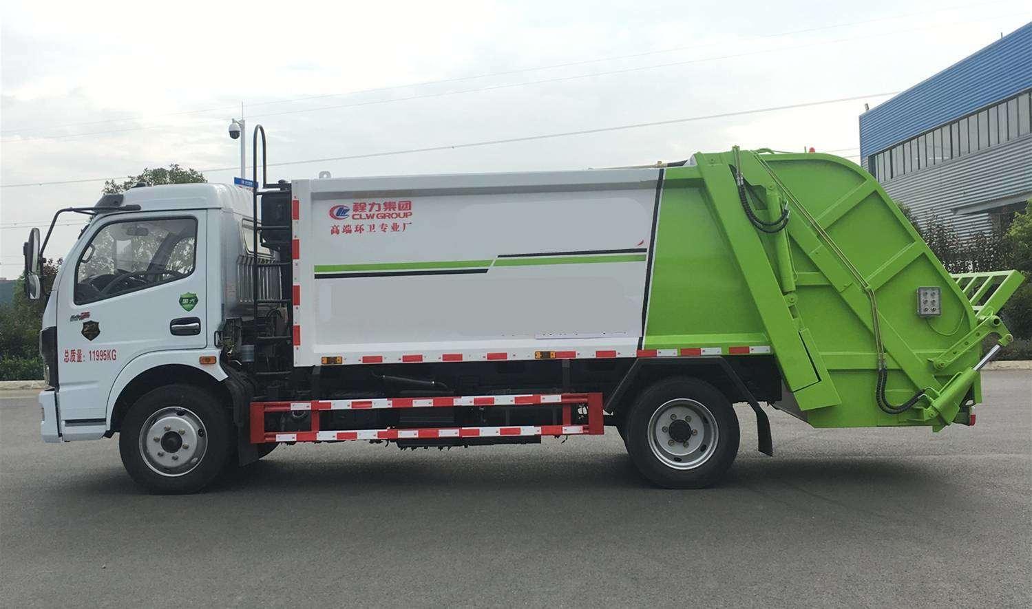 壓縮垃圾車,尾部常見的三種翻轉機構 請根據使用需求購買視頻