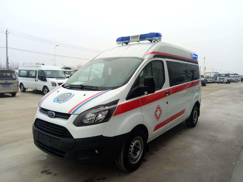 爆款国六福特全顺V362中轴中顶救护车,监护型负压型可选