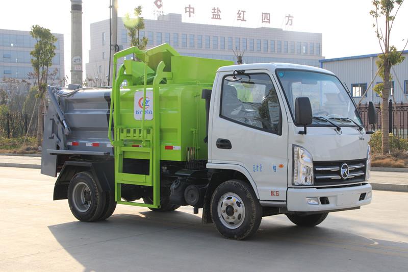 国六蓝牌凯马餐厨垃圾车哪里买  多少钱
