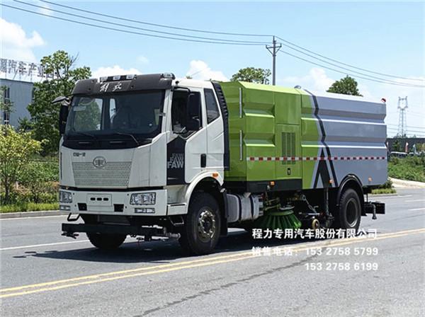 国六一汽解放J6L新款16方洗扫车