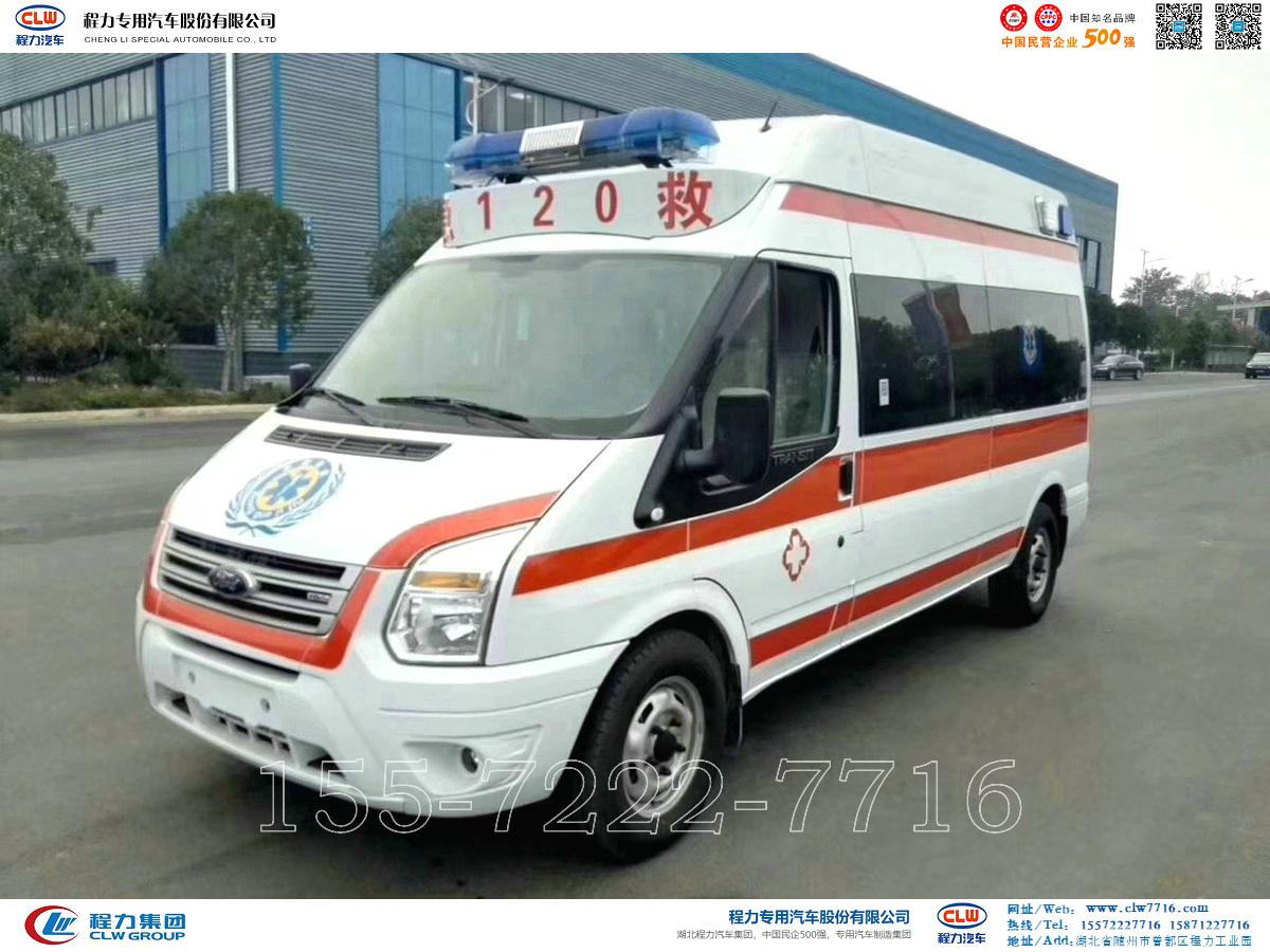 福特全顺V348长轴高顶救护车【CLW5041XJHJ5】