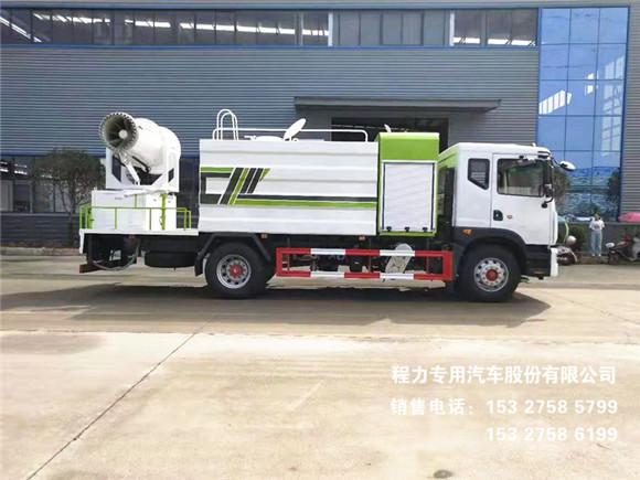 国六东风D9新款方箱12方配50~120米多功能抑尘车图片