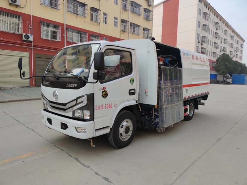 东风国六护栏清洗车配置  图片  价格多少