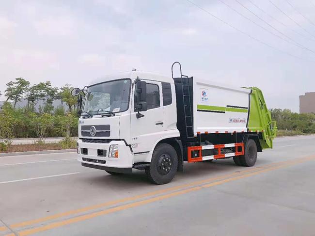 东风天锦12方压缩垃圾车配置  多少钱一辆
