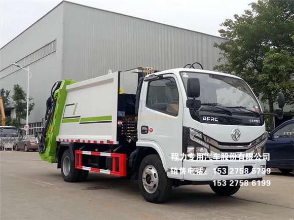国六东风小多利卡6方压缩式垃圾车