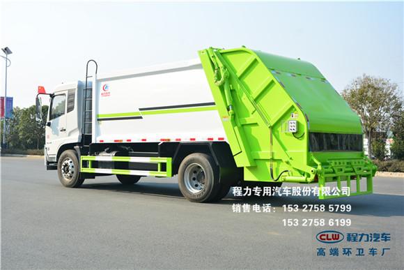 国六东风天锦14方压缩垃圾车图片