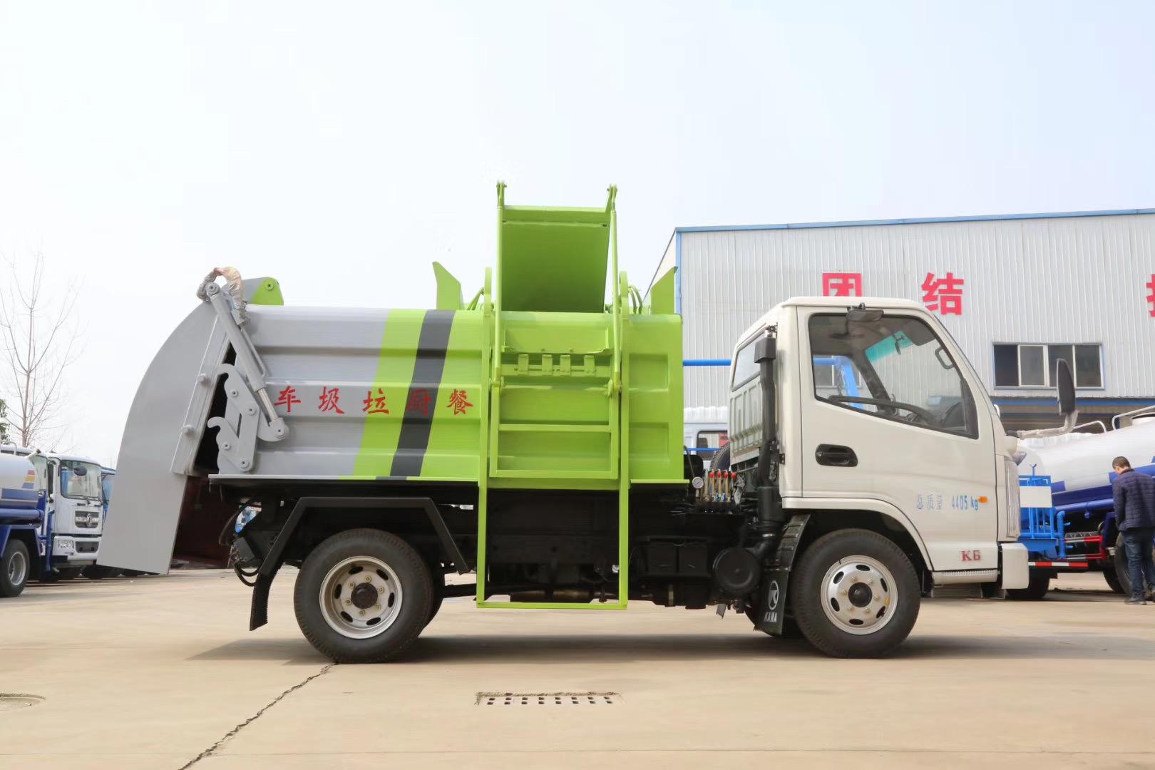 国六5吨挂桶垃圾车