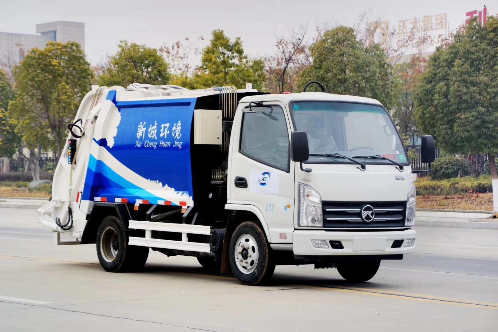 国六蓝牌压缩垃圾车