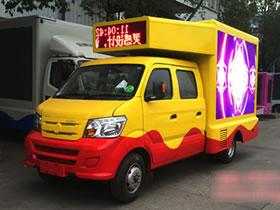 重汽王牌双排宣传车