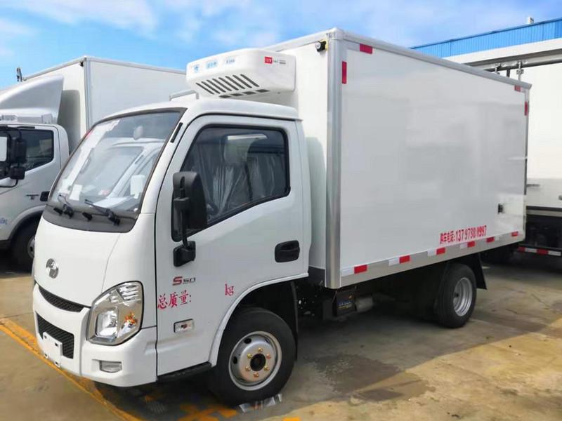 热销中小型冷藏车-跃进小福星3.3米蓝牌冷藏车