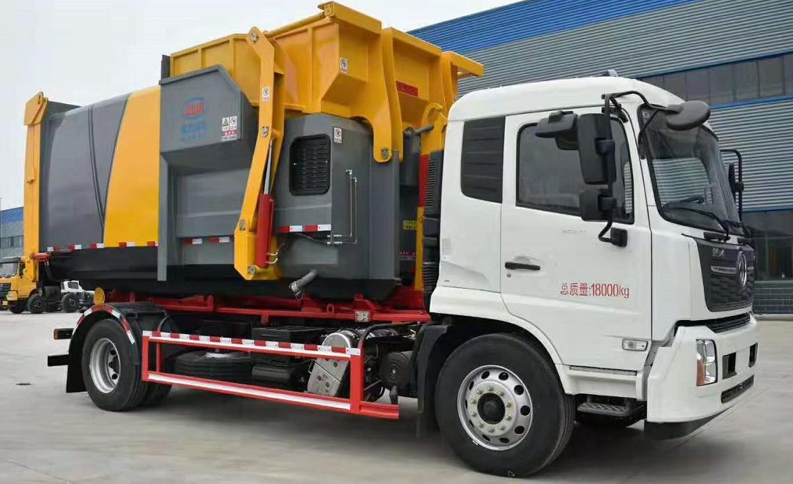 25吨勾臂垃圾车功能展示视频视频