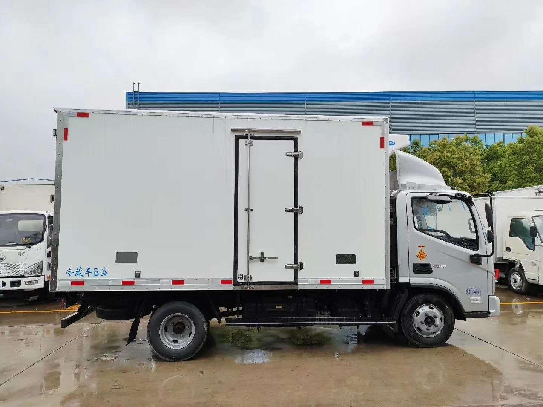 福田欧马可s1国六冷藏车。图片