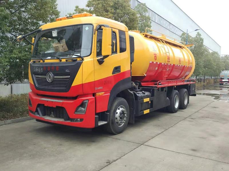 清洗吸污车可自吸自排,工作速度快,容量大,运输方便,适用于收集运输粪便