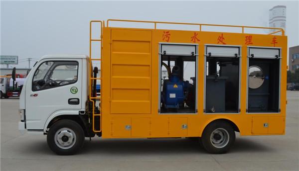 东风移动式6方污水净化车
