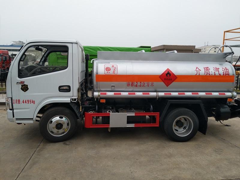 2吨蓝牌油罐车东风多利卡,流动加油车 视频