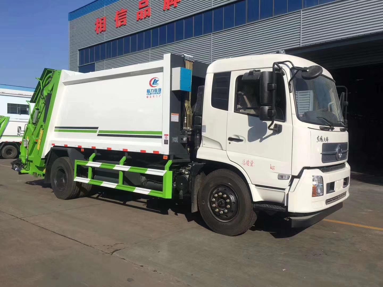 東風天錦后裝壓縮式垃圾車圖片