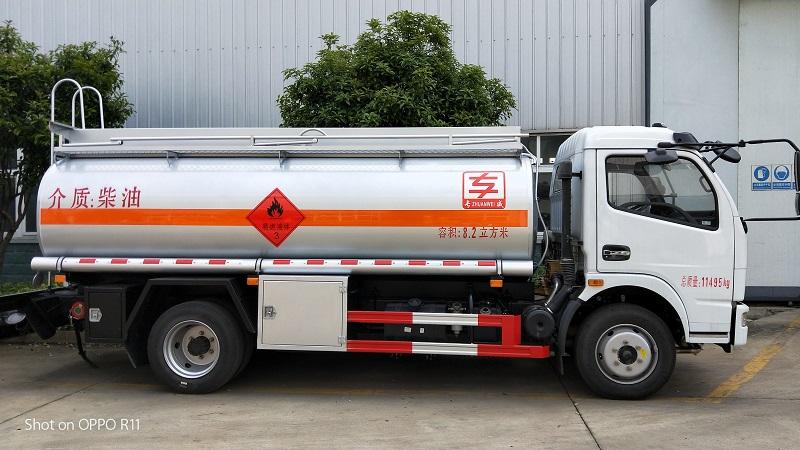 2020新規 8噸油罐車柴油介質8.2方加油車報價配置 視頻視頻