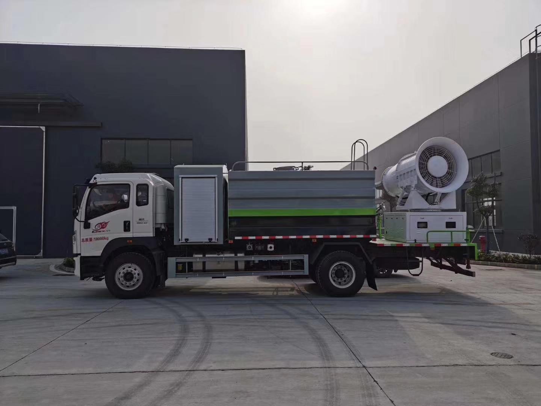 重汽底盤抑塵車配備80米大霧炮圖片