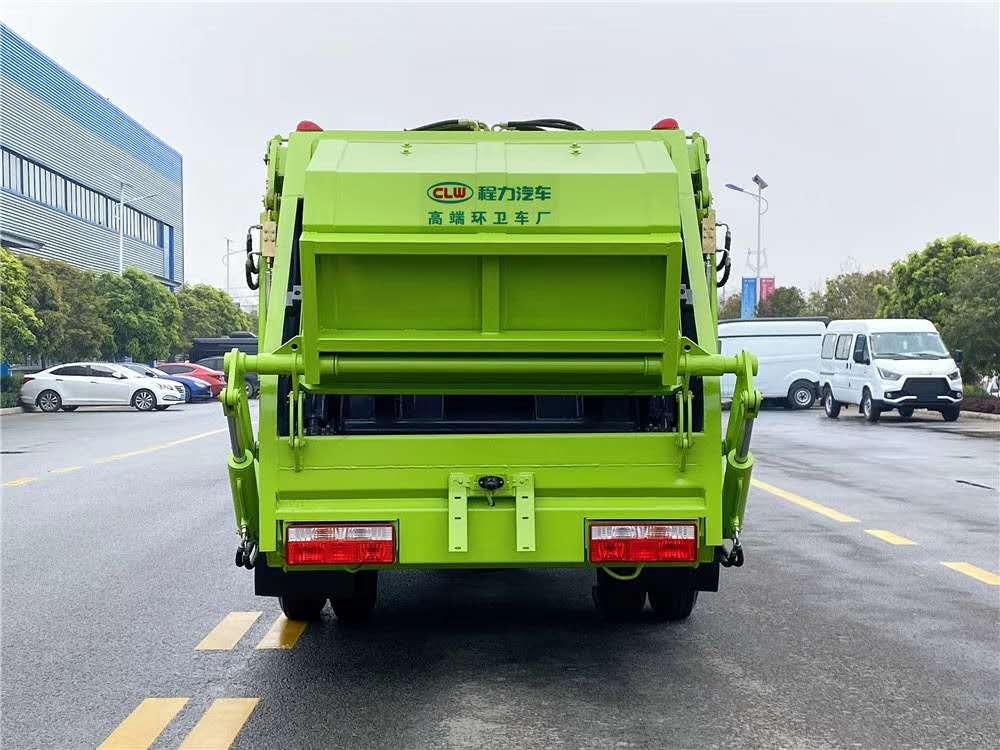 國五藍牌4方壓縮垃圾車圖片配置圖片