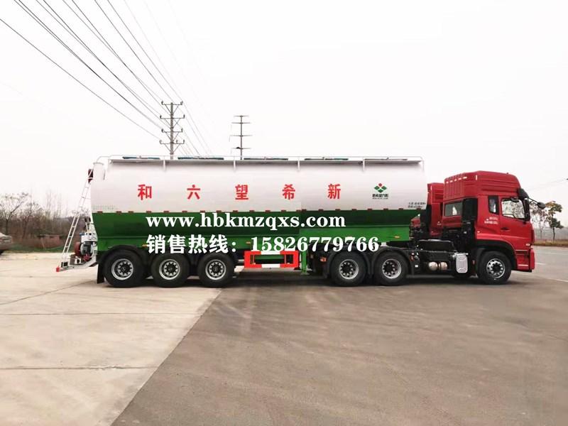 康牧11米轻量化半挂散装饲料车       30吨饲料半挂车_高清图片