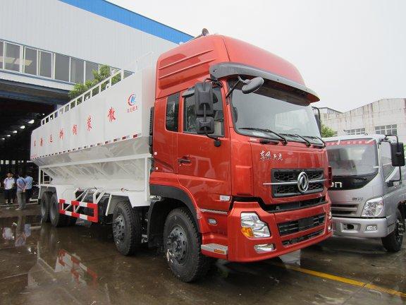 东风天龙40方饲料运输车_国五