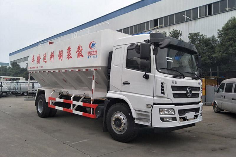 国五陕汽轩德10吨散装饲料运输车