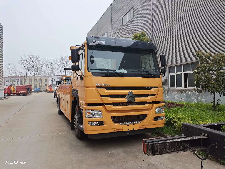 16吨重型拖车重汽豪沃310马力10档箱图片价格