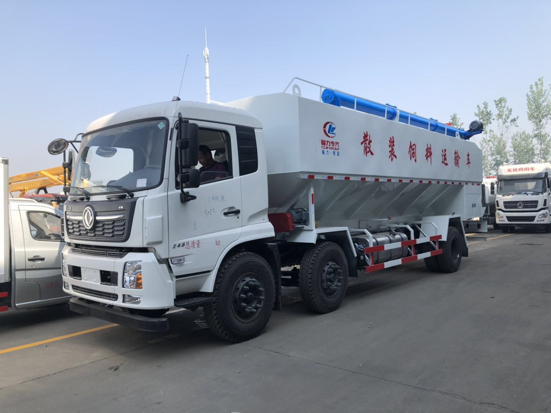 東風天錦三軸30方(15噸)散裝飼料運輸車