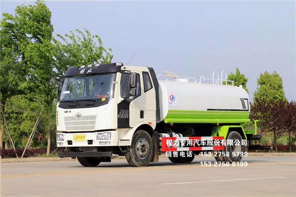 国六一汽解放J6L热销款15吨洒水车