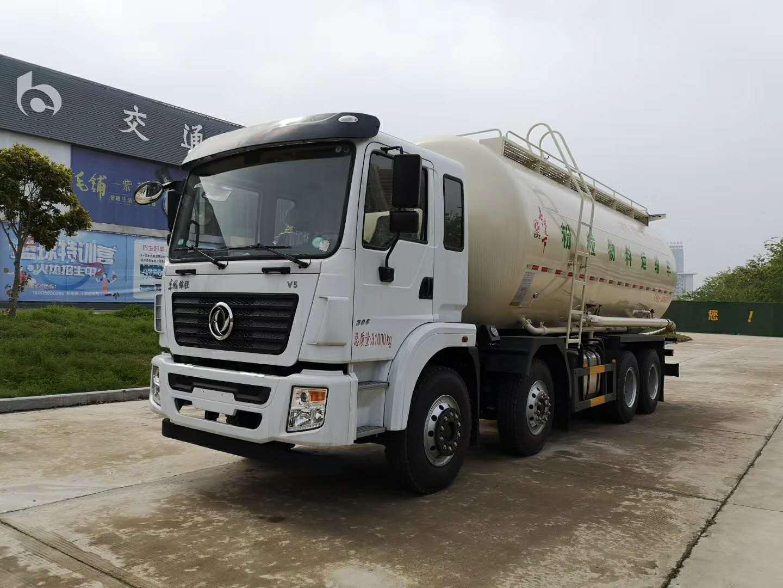 东风锦程前四后八粉粒物料运输车图片