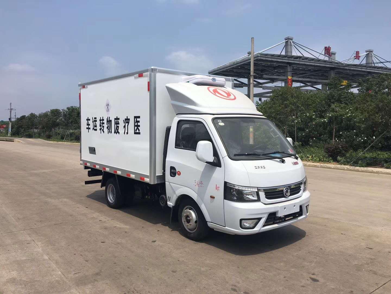 东风途逸国六汽油3米医疗废物厢式运输车