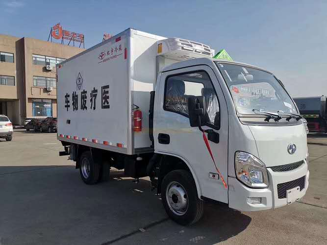 跃进小福星国六汽油3米医疗废物厢式运输车
