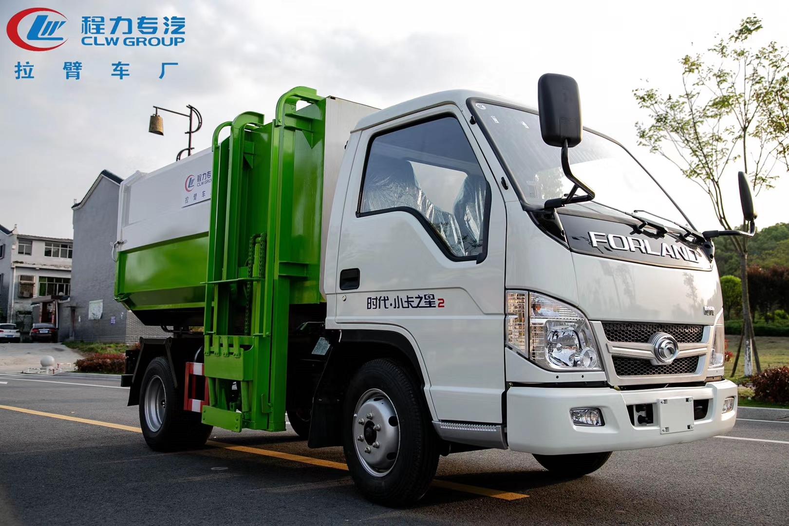 福田小卡5方挂桶垃圾车