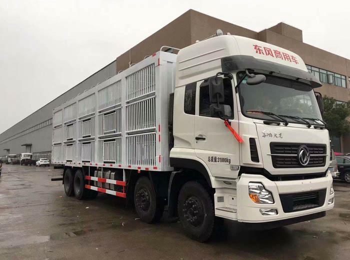 东风9米6运猪车,畜禽运输车厂家