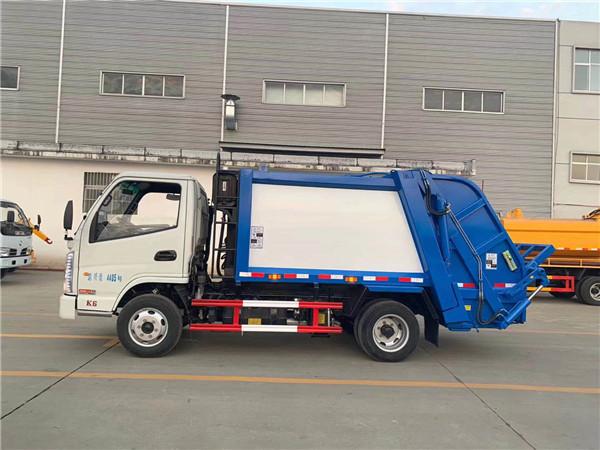 国六凯马4吨蓝牌压缩式垃圾车图片