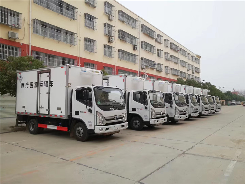 广州医用垃圾转运车 深圳医疗废物转运车 江淮4米2冷藏车(图5)