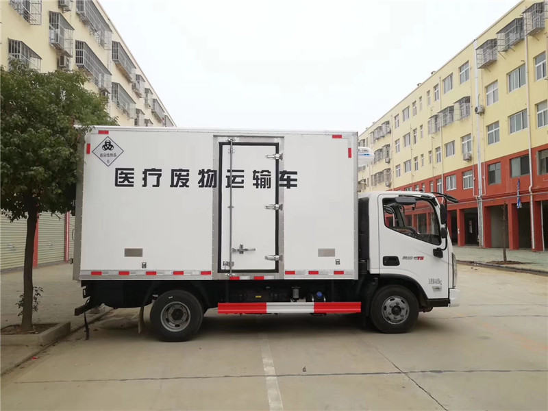 黑龙江医疗垃圾车 大庆市医院垃圾收集车 福田医用垃圾车(图3)