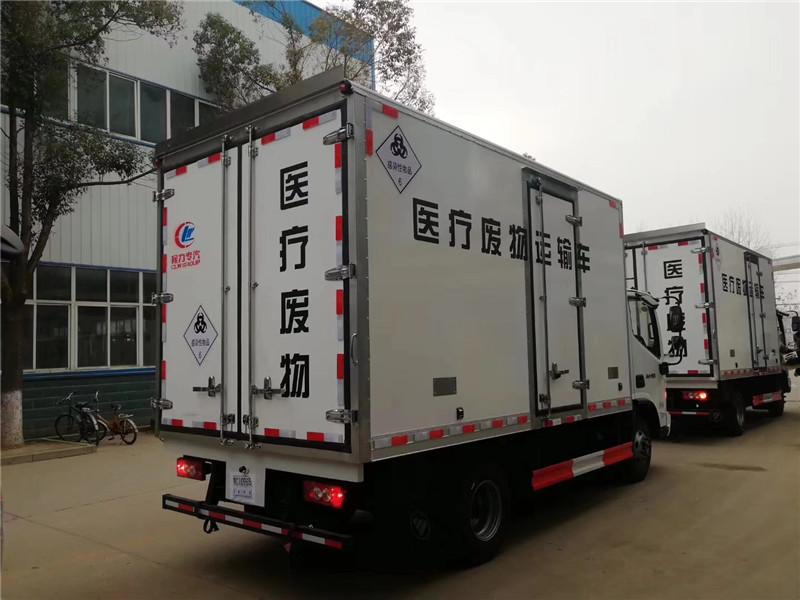 黑龙江医疗垃圾车 大庆市医院垃圾收集车 福田医用垃圾车(图4)