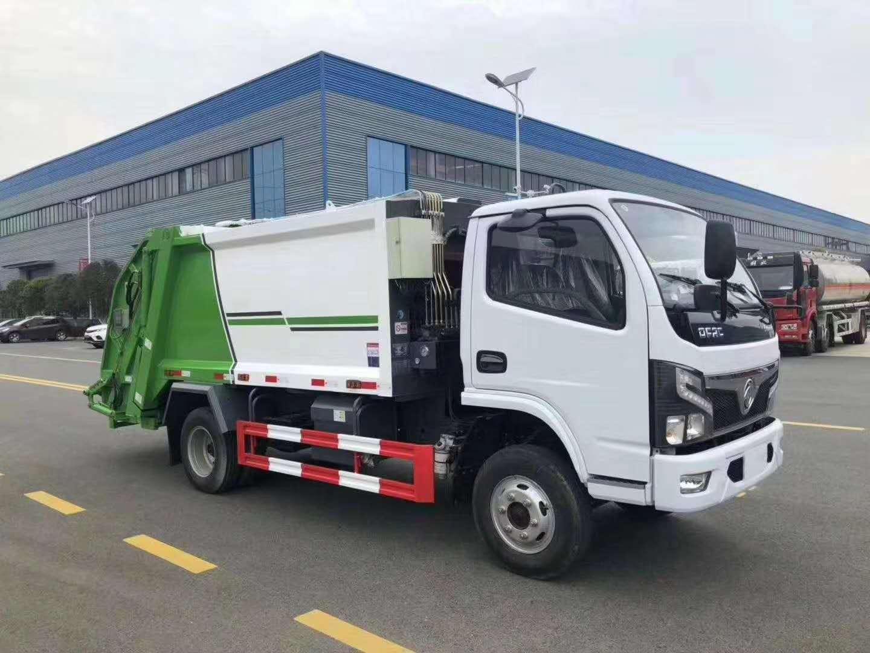 東風多利卡8方壓縮垃圾車,壓縮式垃圾車在環衛的用處圖片