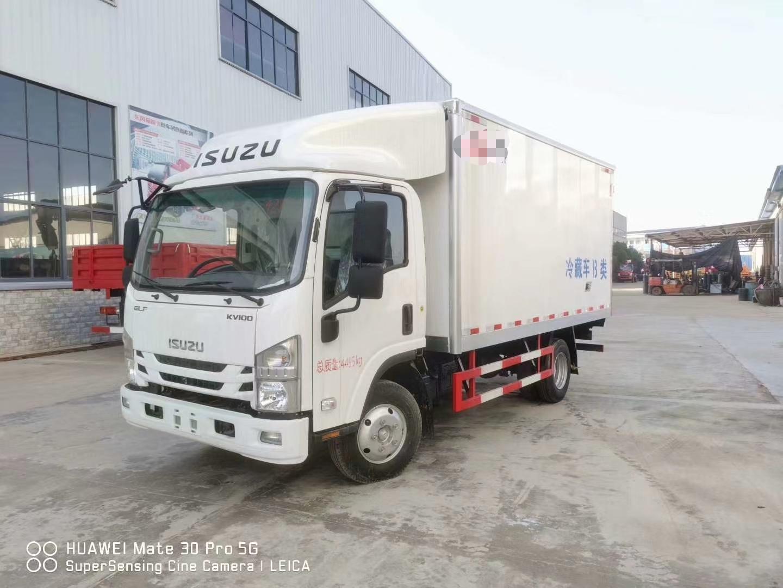 国六庆铃4.2米蓝牌冷藏车配置参数厂家直销图片